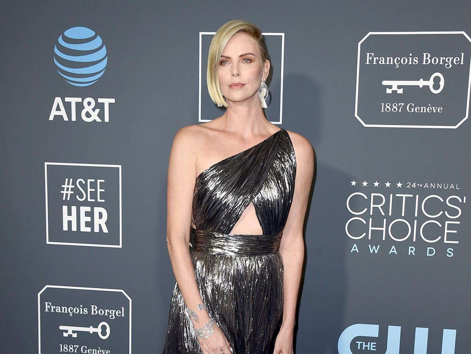 Charlize Theron shimmers and shines.