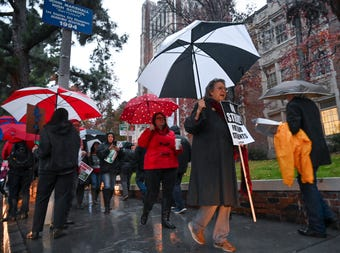Parents at Tom Bradley Global Awareness Magnet in South Los Angeles say that while they support the teachers, they're struggling to keep their children home as the strike continues.