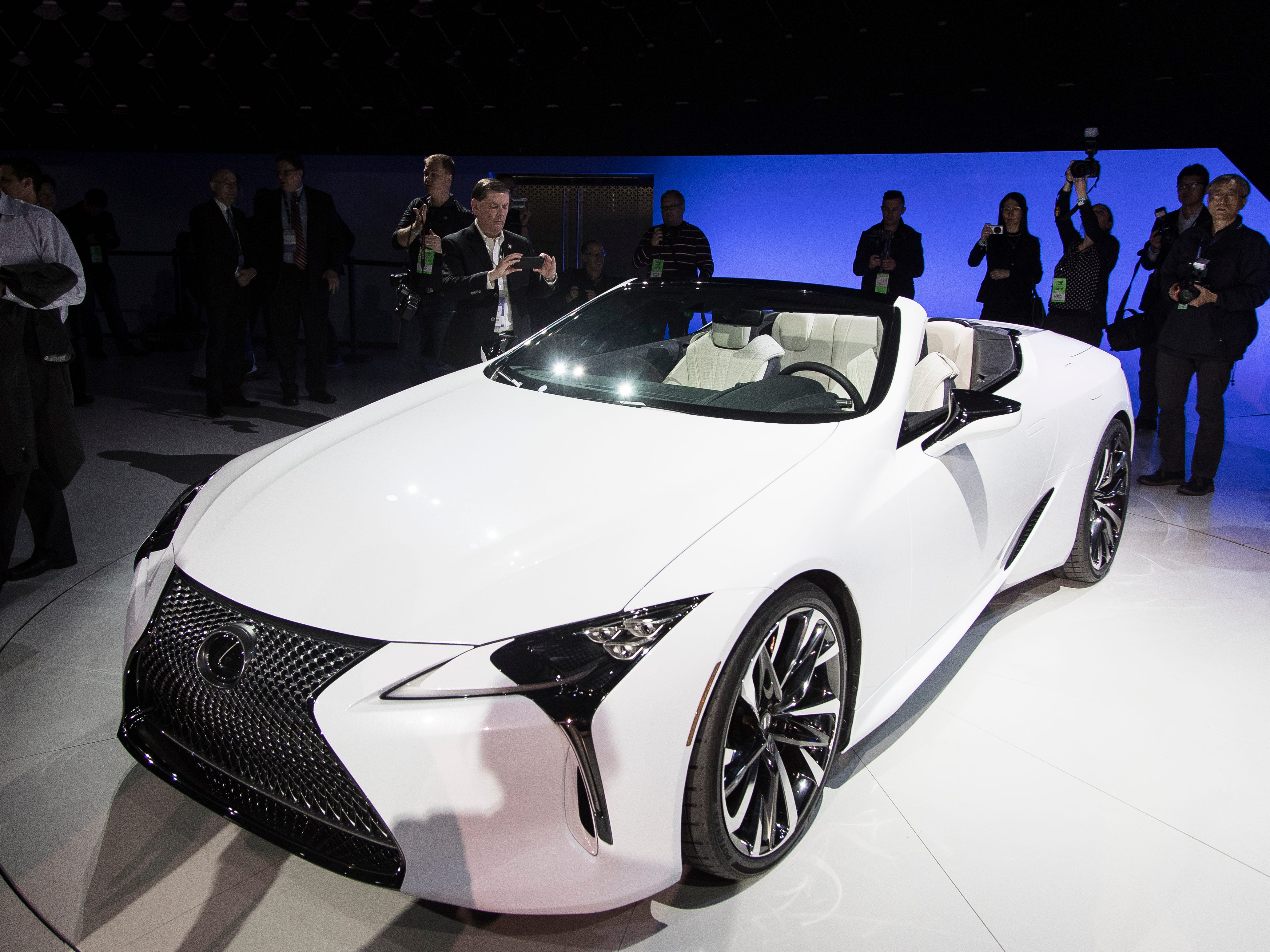 Lexus debuts the LC convertible concept.