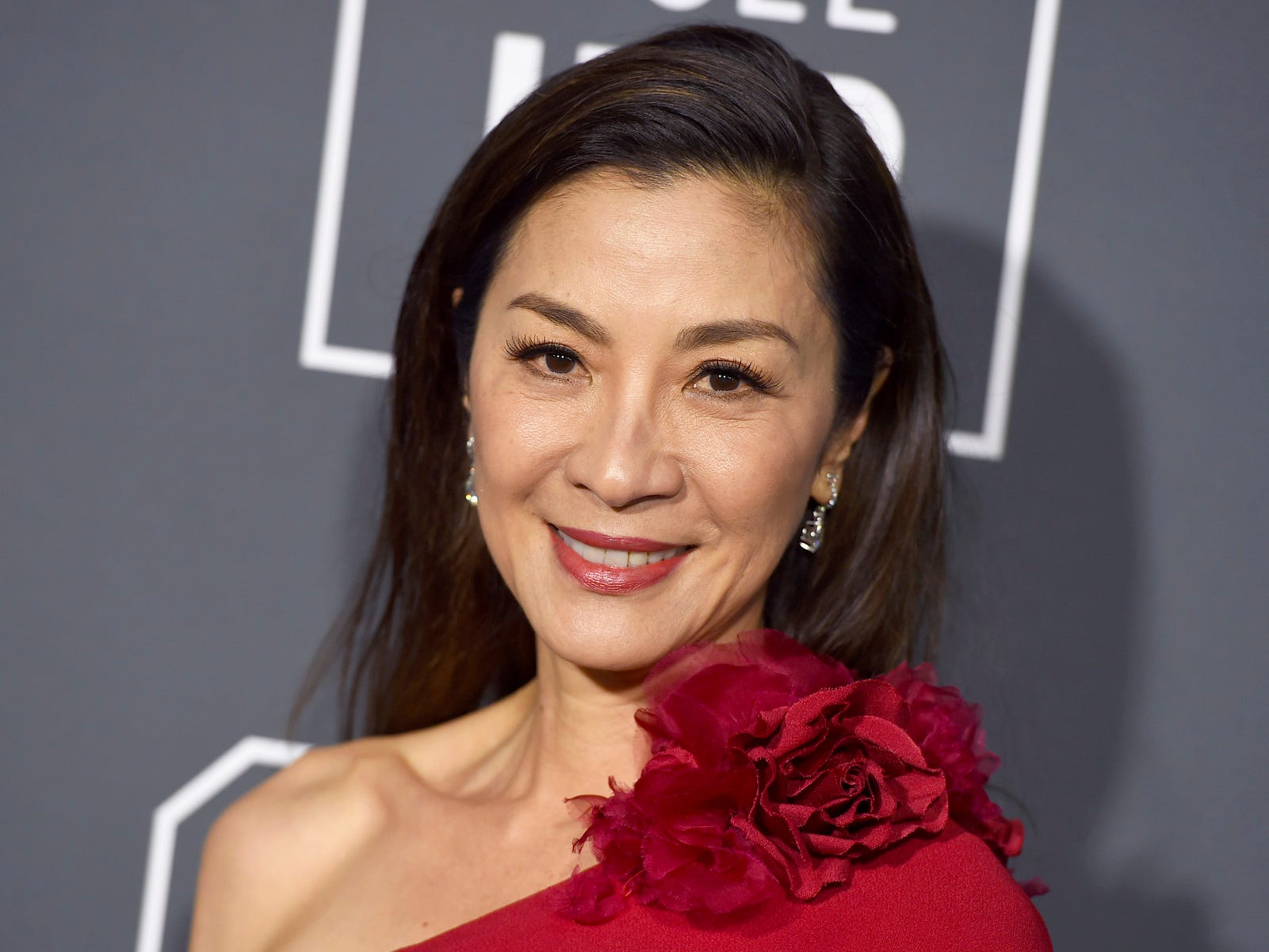 Michelle Yeoh is all smiles.