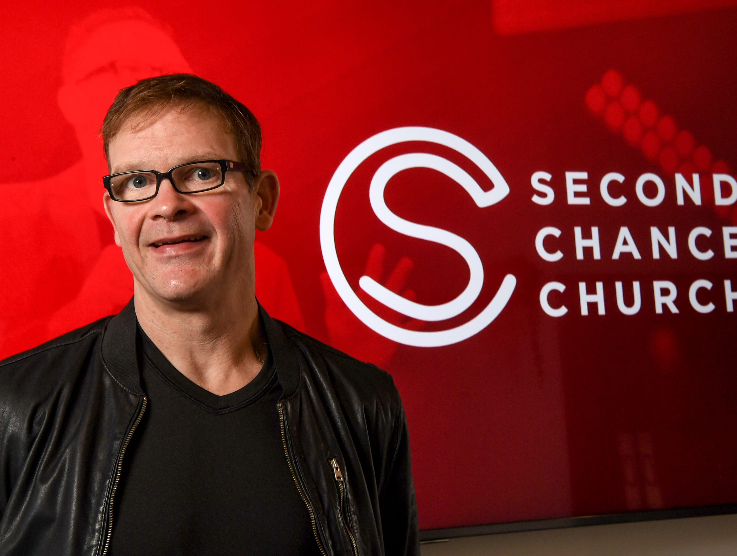 Perry Noble speaks about the beginning of Second Chance Church at 140 Commons Parkway in Anderson on January 27.