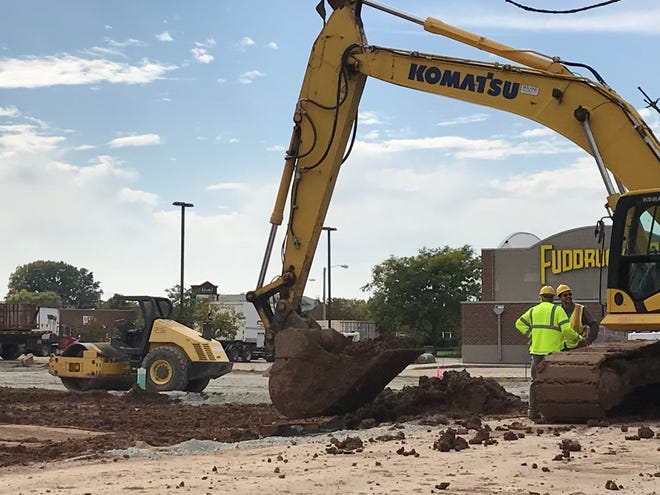 Workers began site work in the fall for a new Fairfield Inn & Suites behind Fuddruckers in Grand Chute.