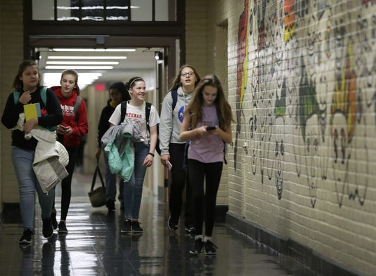 Shattuck Middle School in Neenah would be replaced with a new school on the same site if voters approve a $129.6 million referendum in April. The school houses seventh- and eighth-graders.