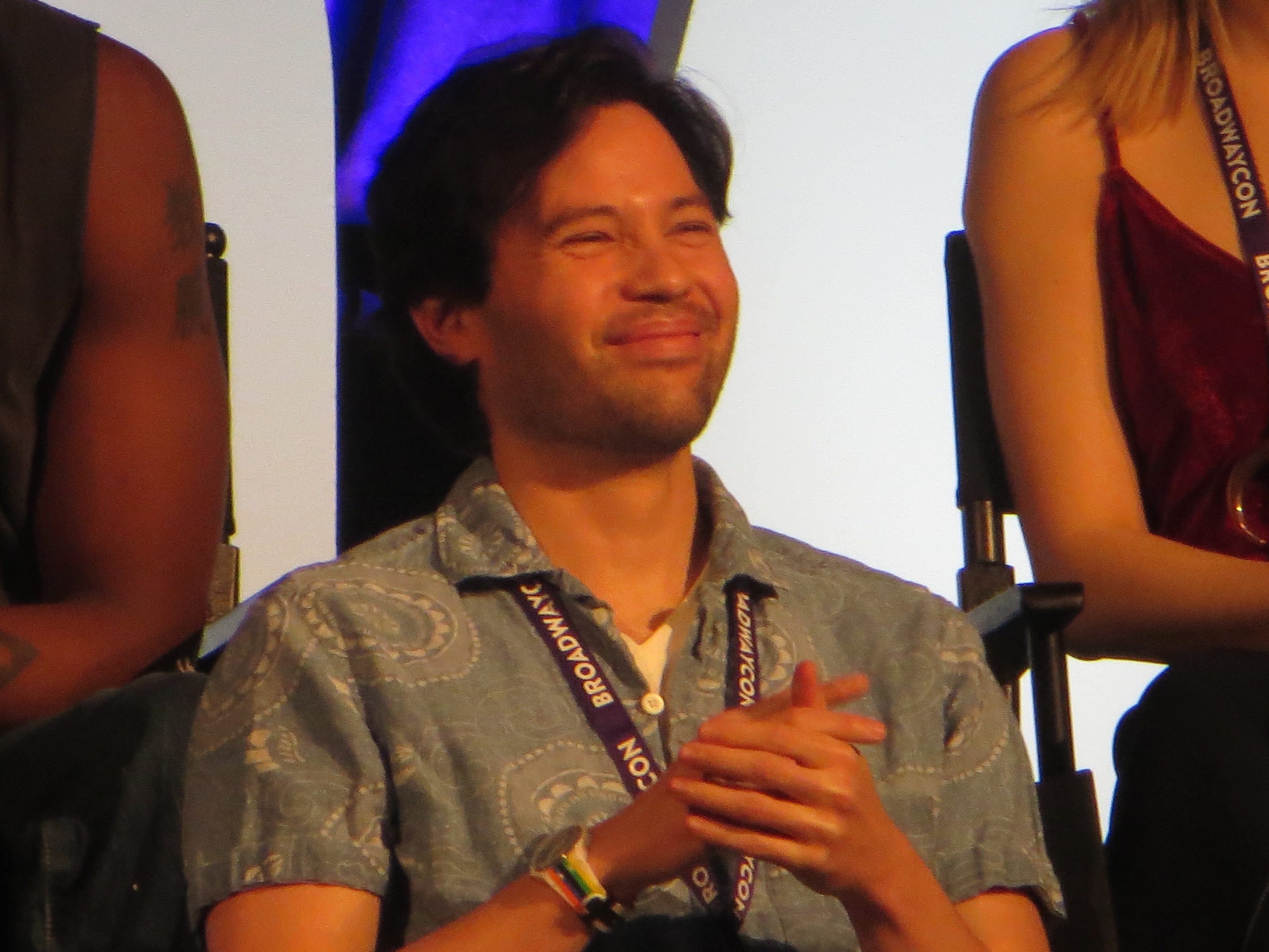 "Jason Tam takes part in a ""Be More Chill"" Spotlight at BroadwayCon 2019, held Jan. 11 to 13, 2019, at the New York Hilton Midtown in Manhattan."
