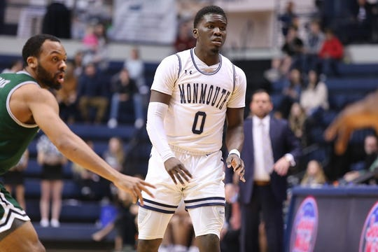 Monmouth's Ray Salnave scored 14 points in the Hawks 63-60 overtime win over Siena.