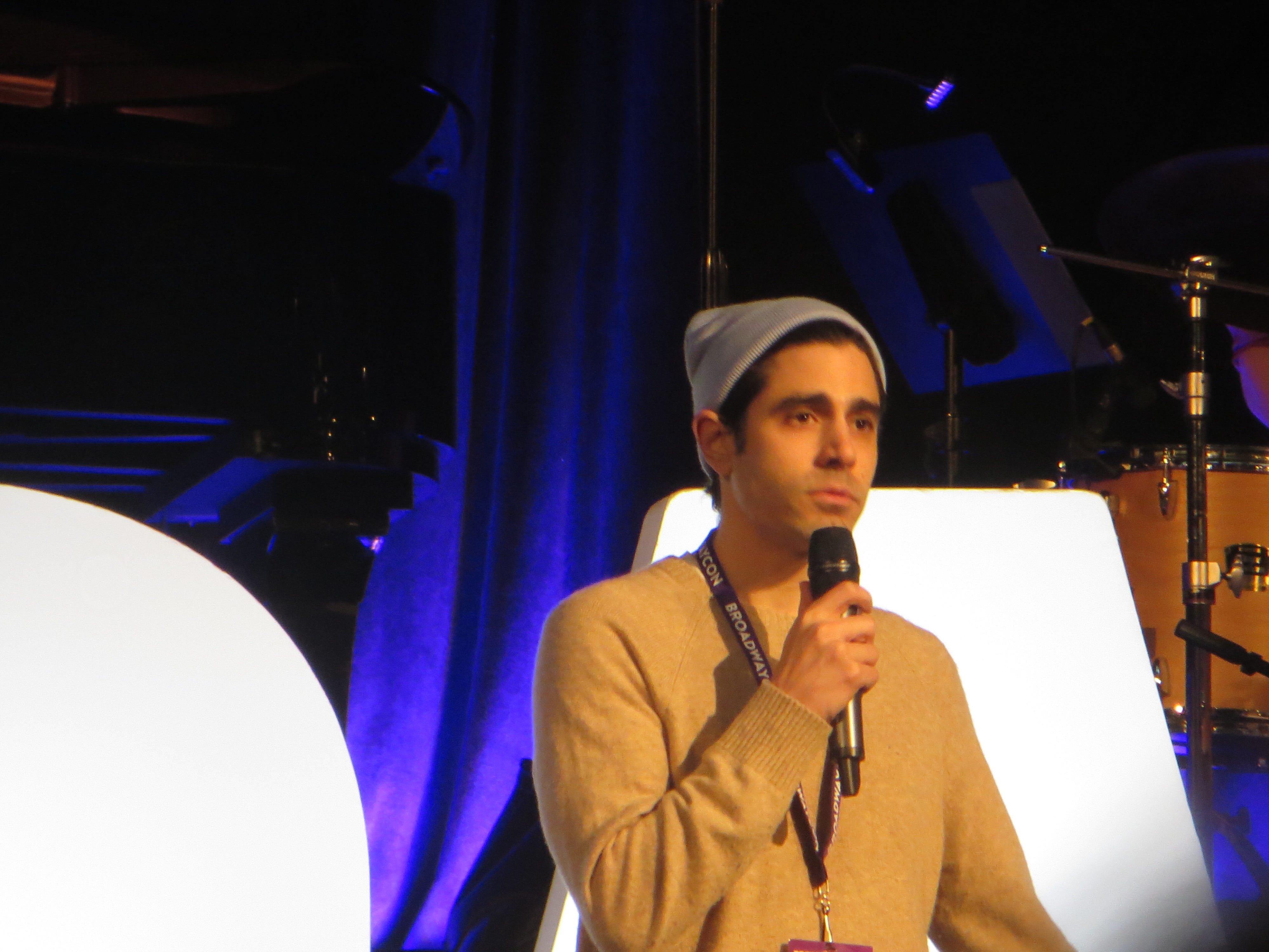 Damon Daunno performs at BroadwayCon 2019, held Jan. 11 to 13, 2019, at the New York Hilton Midtown in Manhattan.
