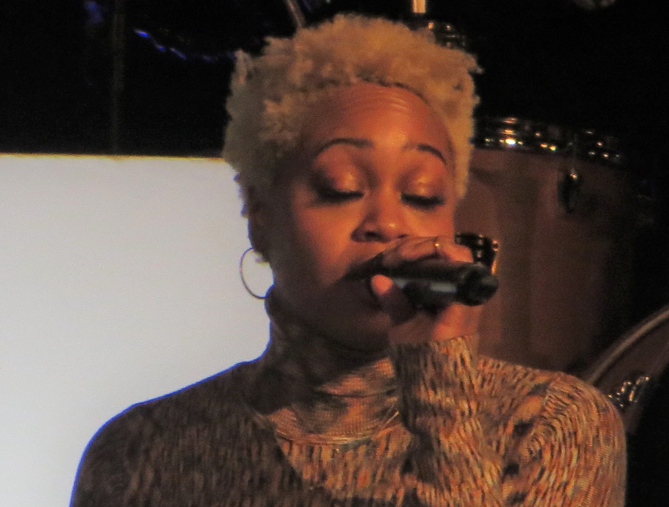 Tamika Lawrence performs during BroadwayCon Jukebox at BroadwayCon 2019, held Jan. 11 to 13, 2019, at the New York Hilton Midtown in Manhattan.