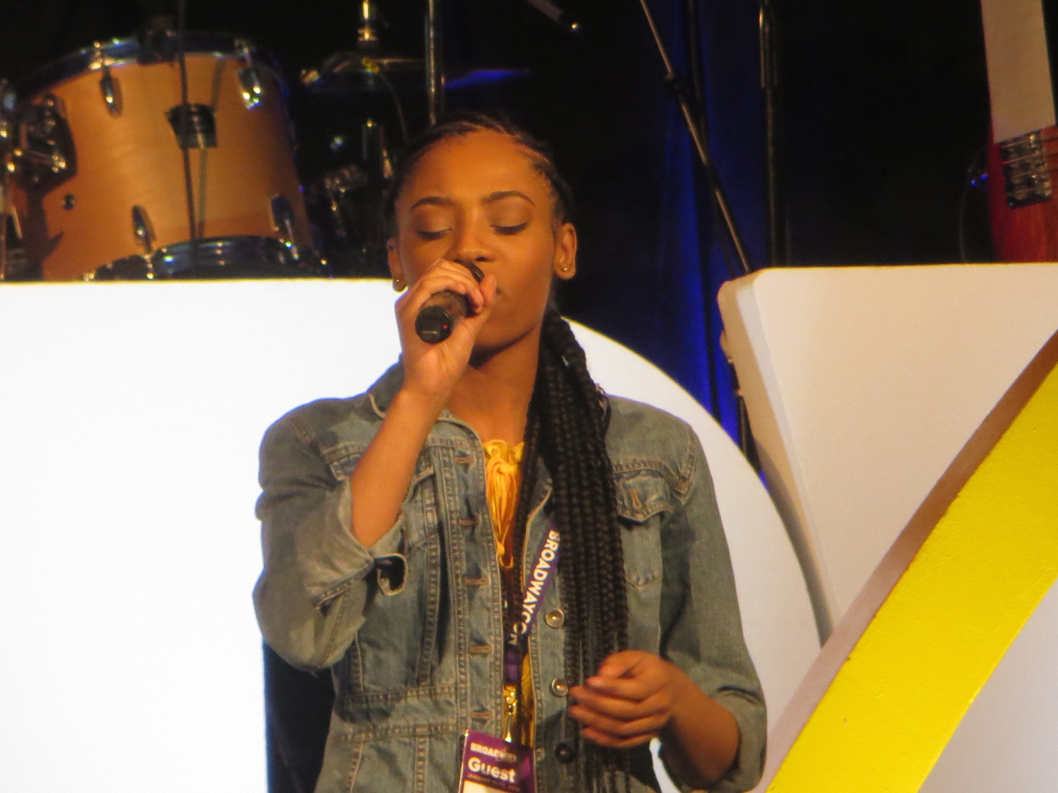 Hailey Kilgore at BroadwayCon 2019, held Jan. 11 to 13, 2019, at the New York Hilton Midtown in Manhattan.
