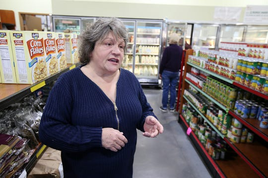 Patricia Donaghue, executive director and CEO of Peoples Pantry, talks about the pantry waving eligibility requirements for furloughed federal workers at Peoples Pantry in Toms River, NJ Tuesday January 15, 2019.