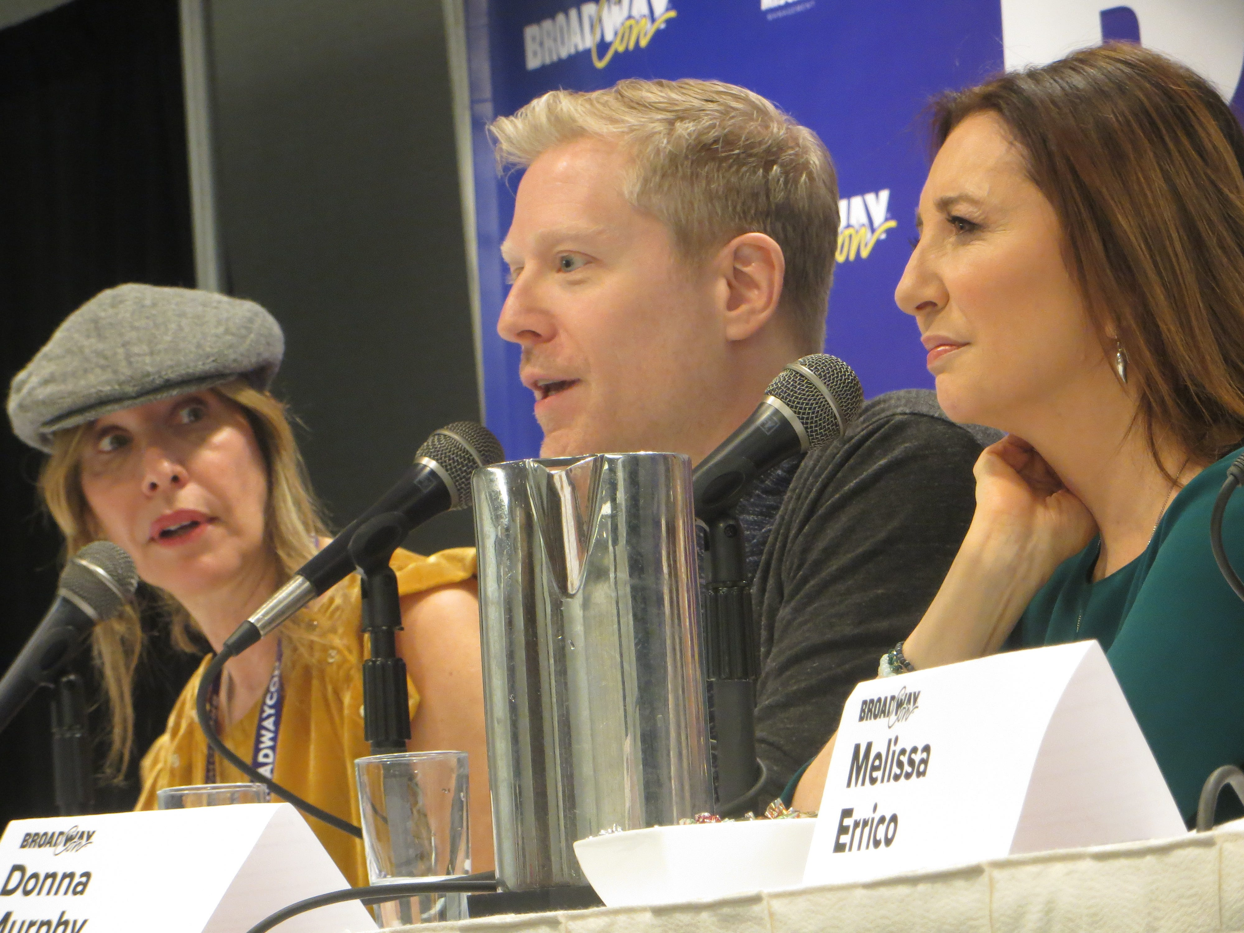 Ilana Levine, Anthony Rapp and Donna Murphy take part in a panel at BroadwayCon 2019, held Jan. 11 to 13, 2019, at the New York Hilton Midtown in Manhattan.