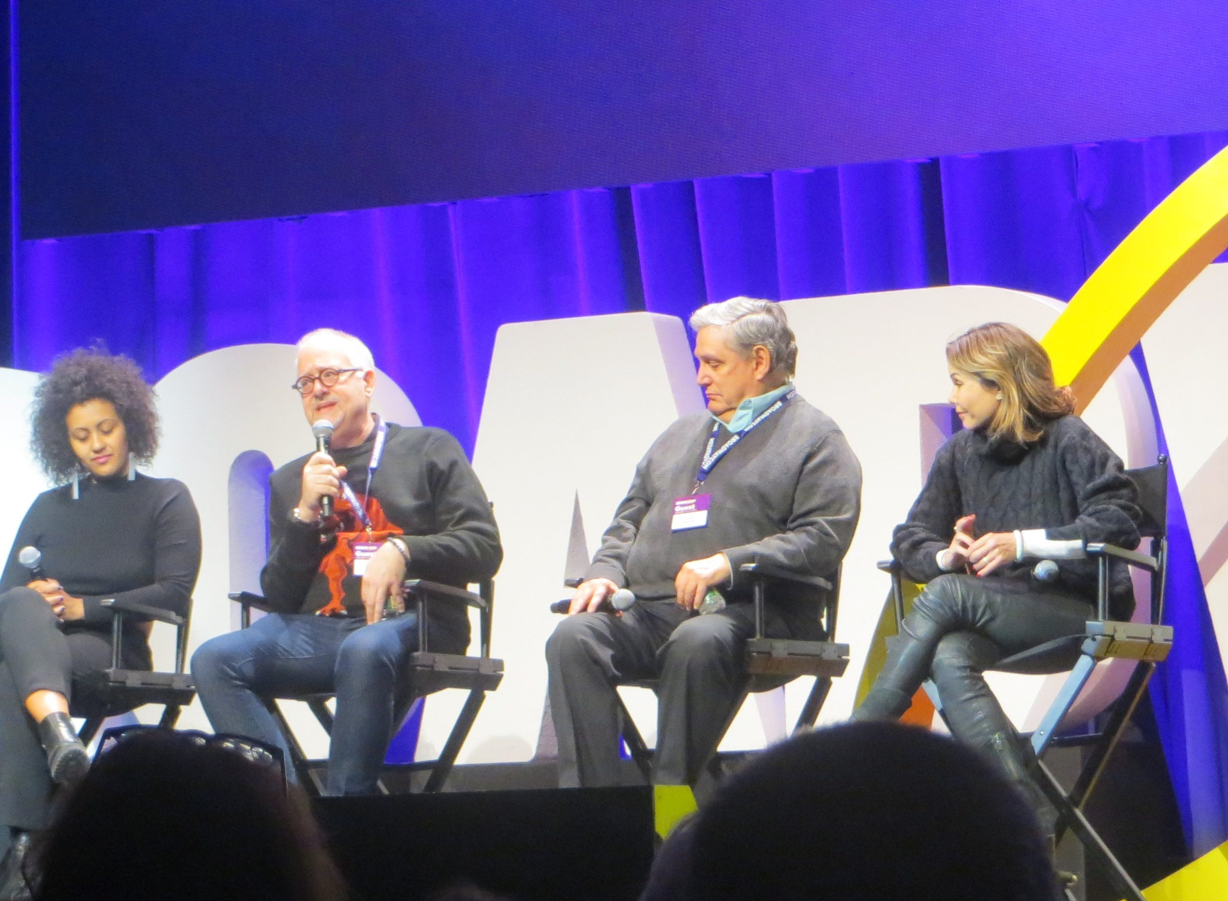 The New York Theatre Workshop at 40 panel at BroadwayCon 2019, held Jan. 11 to 13, 2019, at the New York Hilton Midtown in Manhattan.