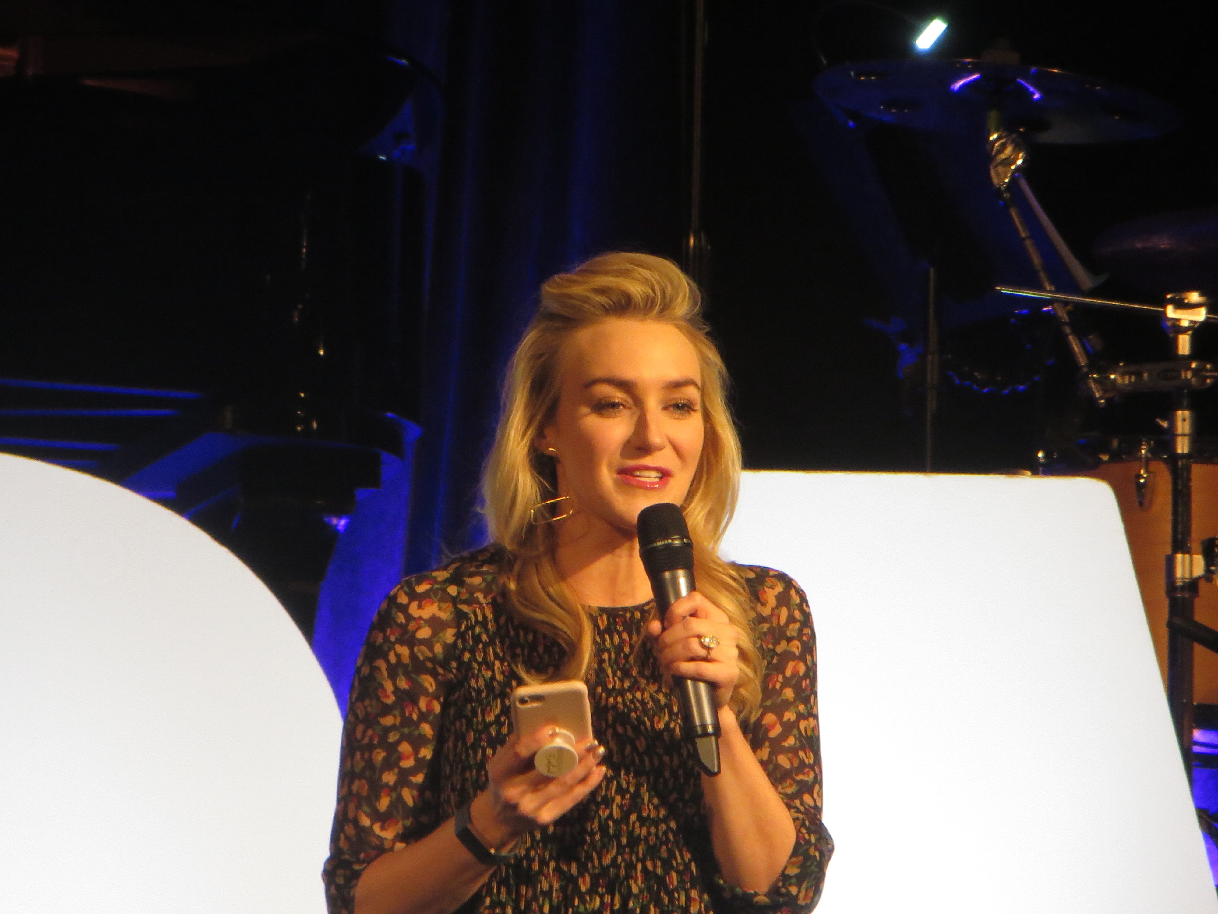 Betsy Wolfe performs during BroadwayCon Jukebox at BroadwayCon 2019, held Jan. 11 to 13, 2019, at the New York Hilton Midtown in Manhattan.