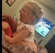 Little girl, an Edison first grader, can't stop crying after Eagles lose