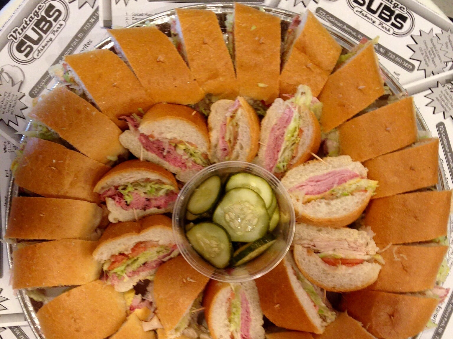 A sub platter from Vintage Subs in Asbury Park.