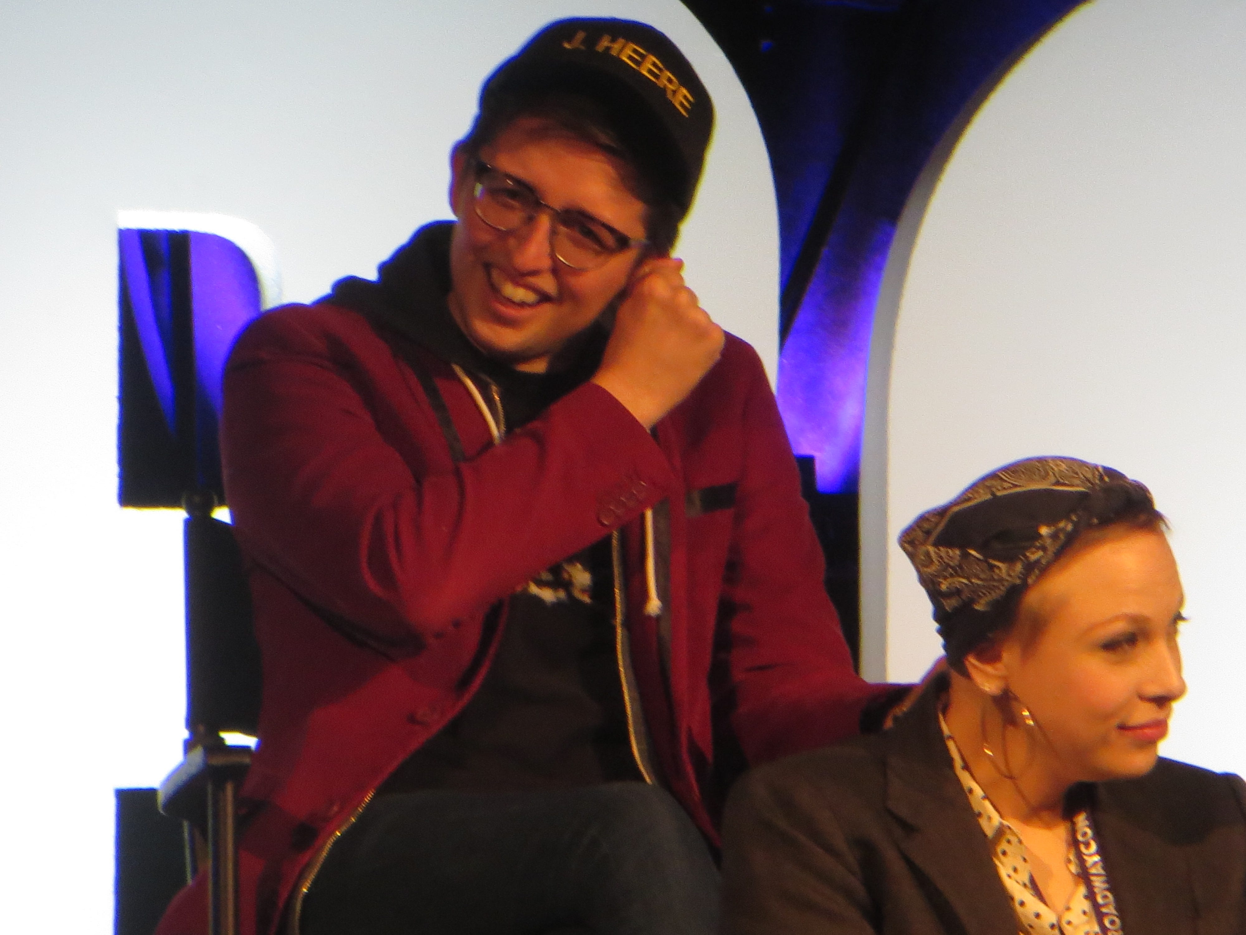 "Will Roland and Lauren Marcus take part in a ""Be More Chill"" panel at BroadwayCon 2019, held Jan. 11 to 13, 2019, at the New York Hilton Midtown in Manhattan."