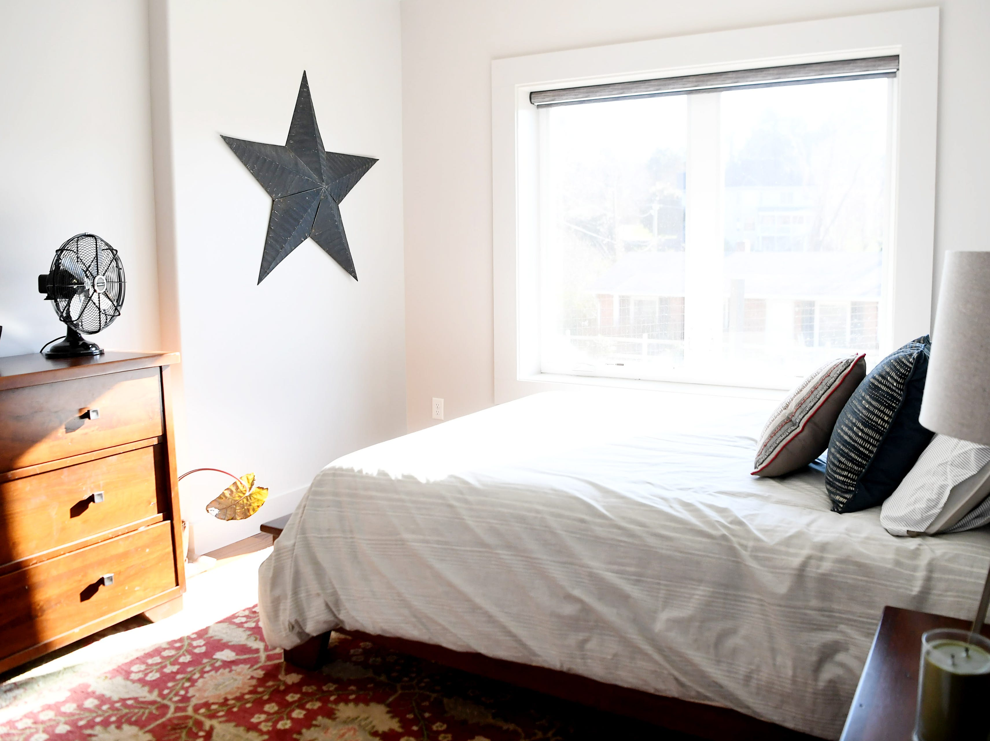 A bedroom in Matthew Rooks' Asheville home Jan. 8, 2019.