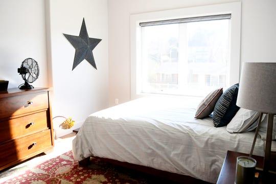 A bedroom in Matthew Rooks' Asheville home Jan. 8, 2019.