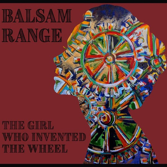 """Balsam Range used a detail from Nancy Hilliard Joyce's """"Inner Workings"""" for the cover of their single """"The Girl Who Invented the Wheel."""""""