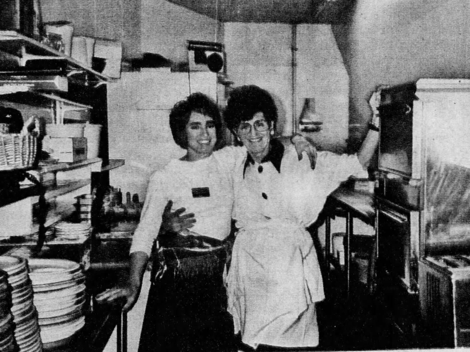 Rita DeVore with her mother, Mary Flake, circa 1985.
