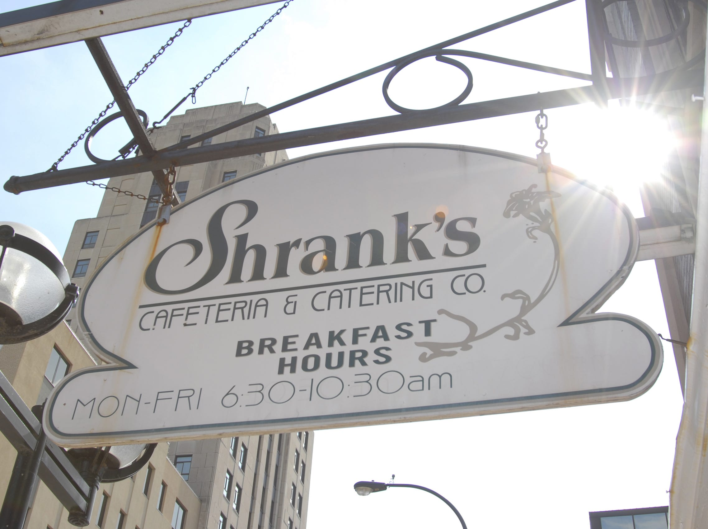 Shrank's Cafeteria, a long-time Battle Creek fixture in 2007.
