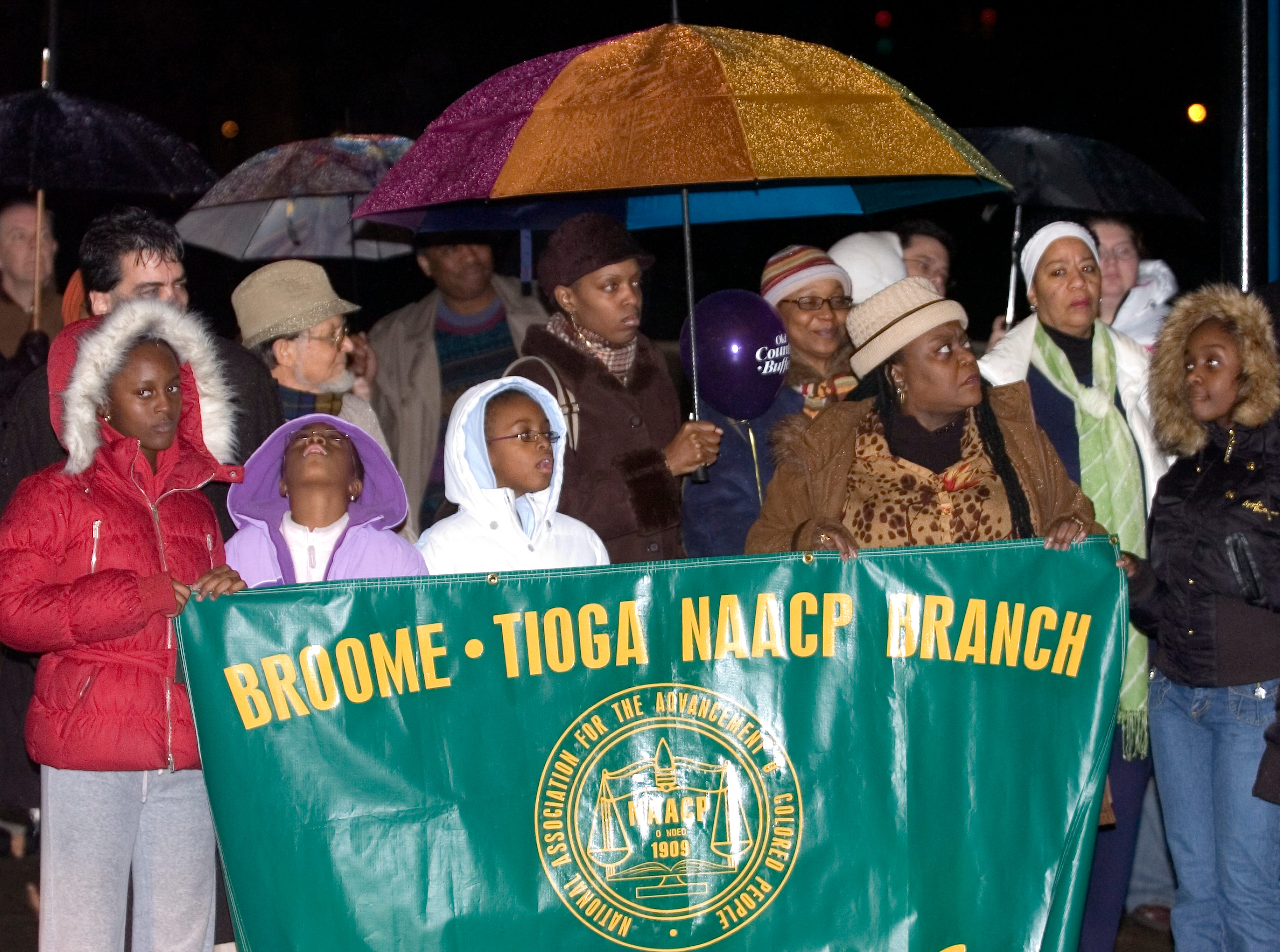 2007: Members of the Broome-Tioga NAACP gather for the Dr. Martin Luther King, Jr. celebration Monday at the Martin Luther King Promenade in Binghamton.
