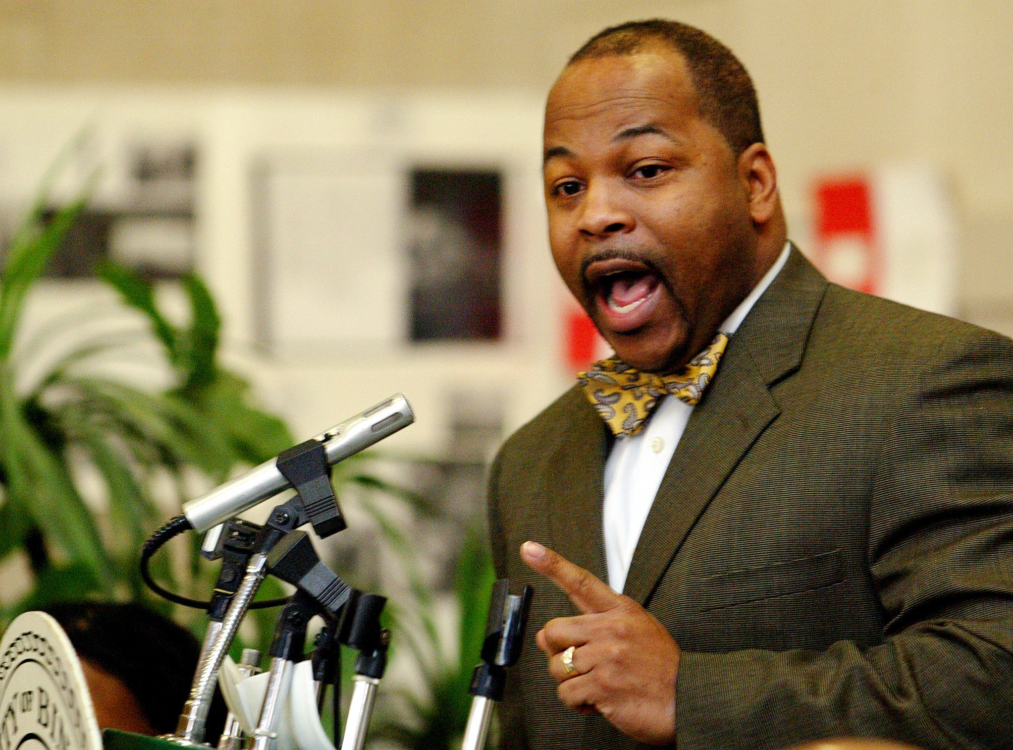 2006: Keynote Speaker, Reverend Gregory Johnson of The Beautiful Plain Baptist Church, Binghamton talks Monday about Dr. Martin Luther King Jr. during a celebrating of his life at the Plaza Gallery, City Hall, Binghamton.