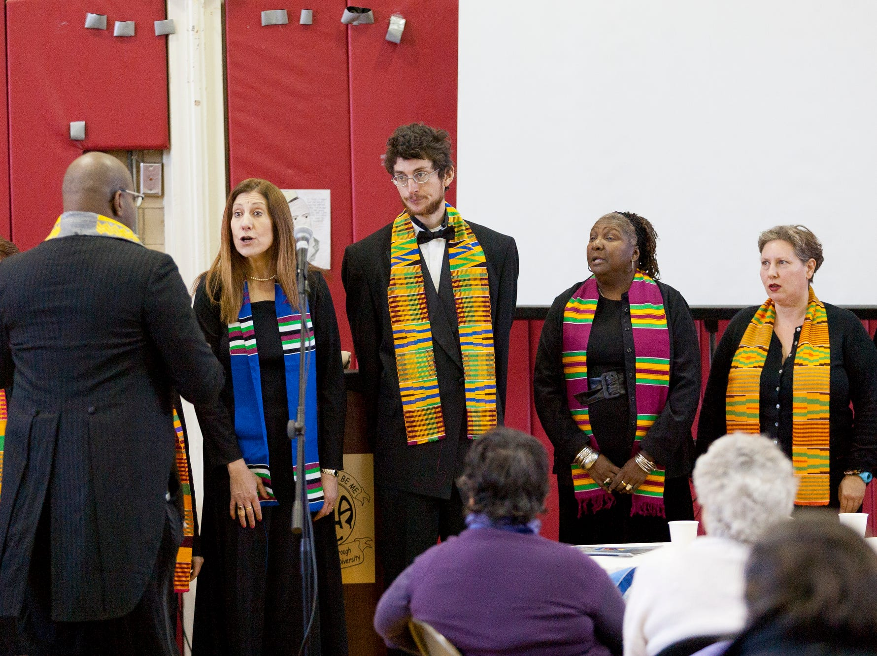 2011: The Dorothy Cotton Jubilee Singers under the direction of Baruch Whitehead. left, perform at the 2011 Monday Martin Luther King Jr. Day program at Beverly J. Martin School.