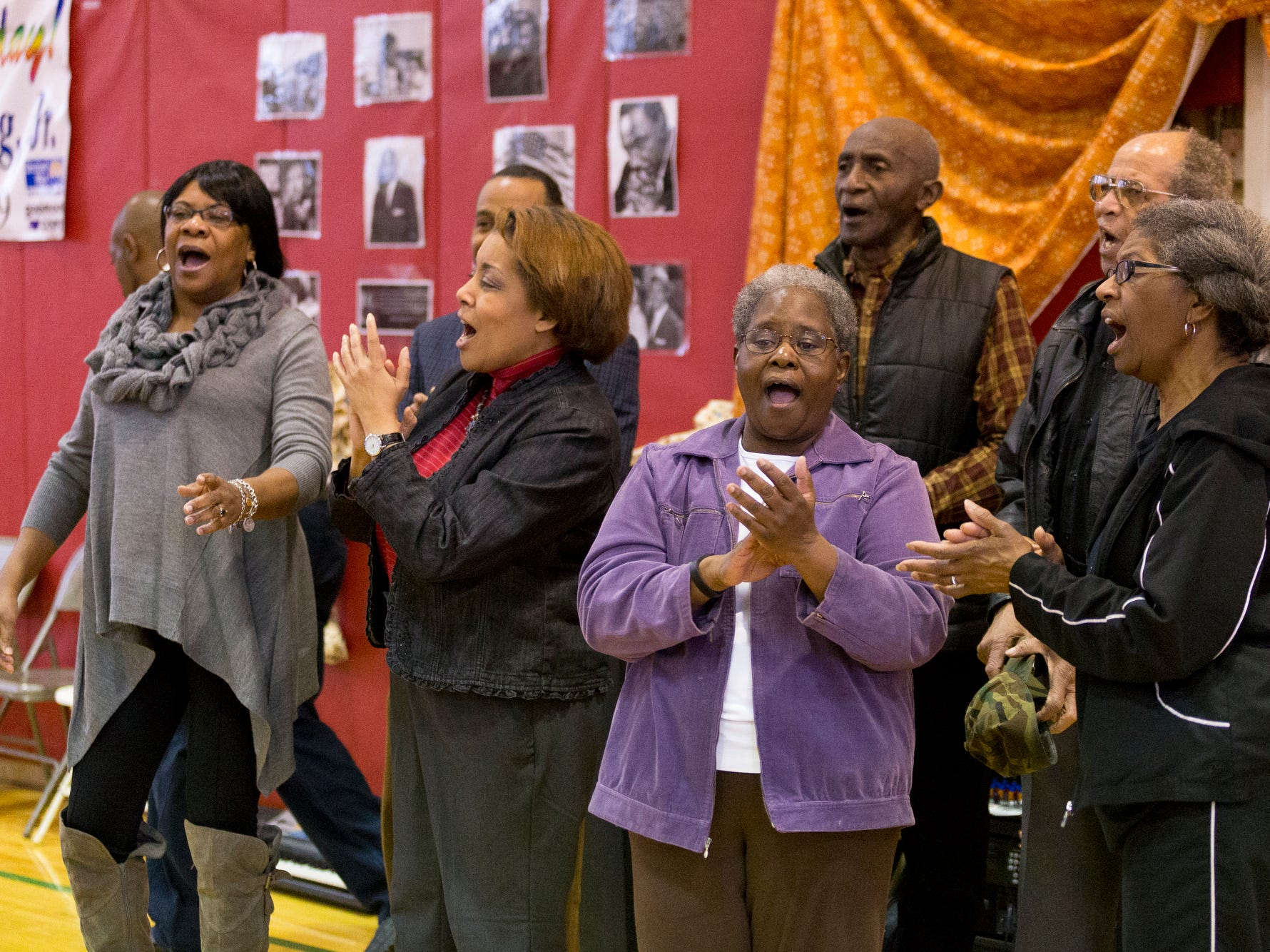 2016: The Calvary Baptist Church Choir performs Saturday morning at the Greater Ithaca Activities Center's annual Martin Luther King Jr. Breakfast.