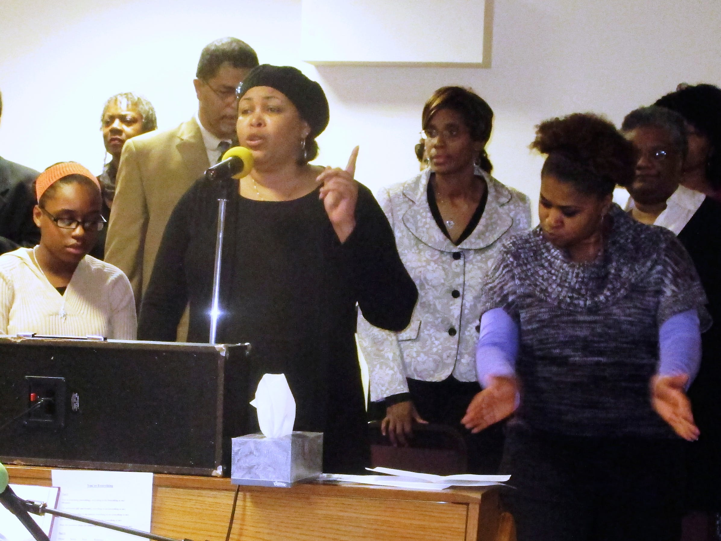 2014: Members of the AIM Community Choir perform Sunday during a Martin Luther King community celebration at St. Paul Missionary Baptist Church in Elmira.