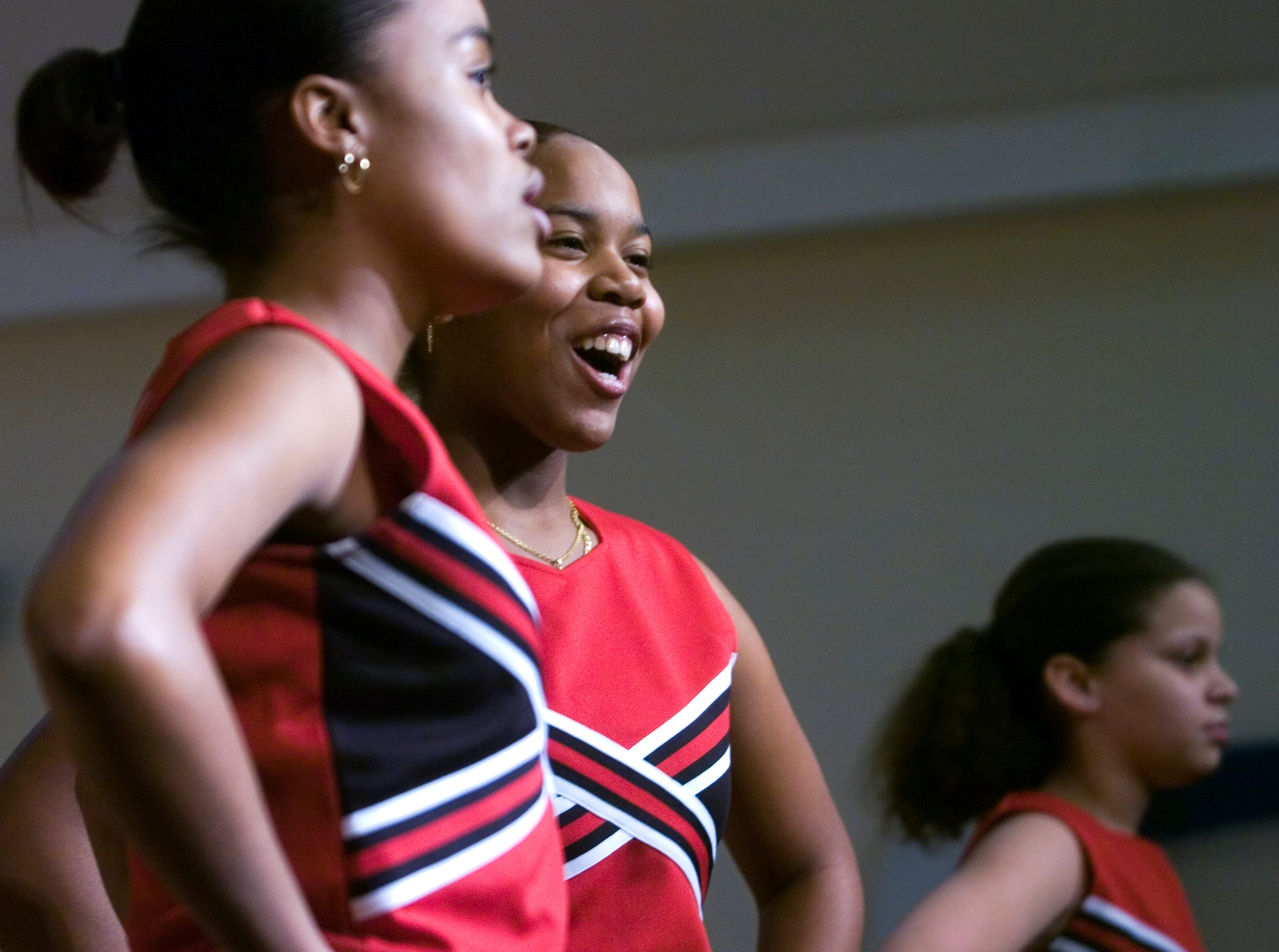 """2007: Kaicherise McRae, left, and Shakima Brown sing """"Lean on Me"""" during The Unexpected's performance at The Discovery Center's Dr. Martiun Luther King celebration on Monday."""