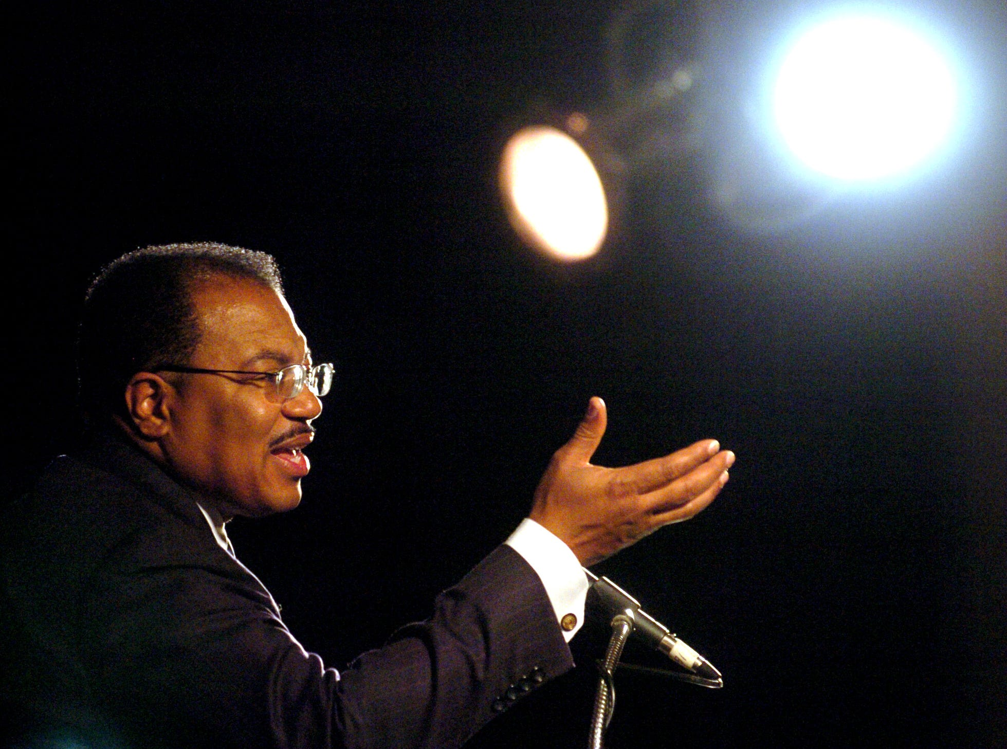 2003: Joe Rogers presents The Dream Alive Program, a dedication to the life of Dr. Martin Luther King, Jr., Monday afternoon in the University Union Mandela Room at Binghamton University.