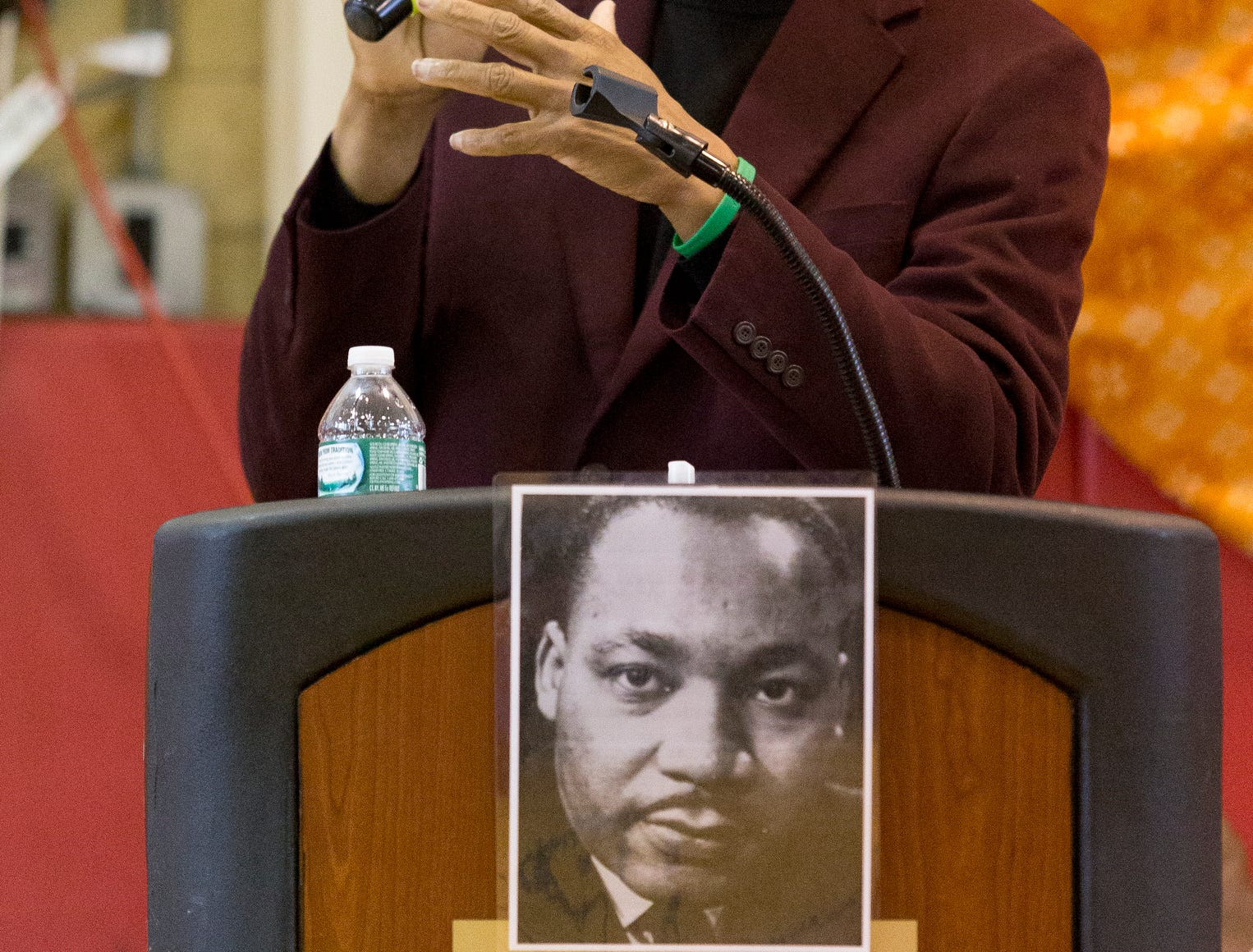 2016: Cal Walker delivers the keynote address Saturday morning at the Greater Ithaca Activities Center's annual Martin Luther King Jr. Breakfast.