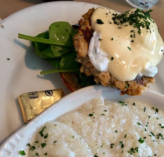 The crab cake eggs benedict at Too Cool Cafe came coated in just enough lemony but not sour Hollandaise, with a perfectly poached egg and one of the better crab cakes in the area.