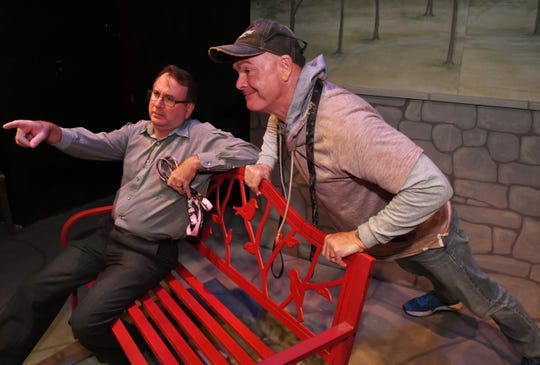 "Mark Blackledge as Greg and Rob Kenna as Tom in a production of ""Sylvia,"" Blackledge passed away late last month."