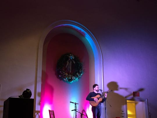 Henry Jamison performs Dec. 31, 2018 during the Highlight festival at the Unitarian Church in Burlington.