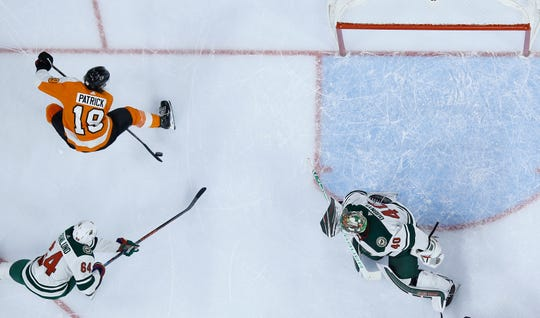Nolan Patrick had two goals and two assists Monday in a 7-4 win over the Minnesota Wild.