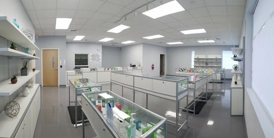 The dispensing floor at Cresco's CY+ dispensary in Winstersville, Ohio.
