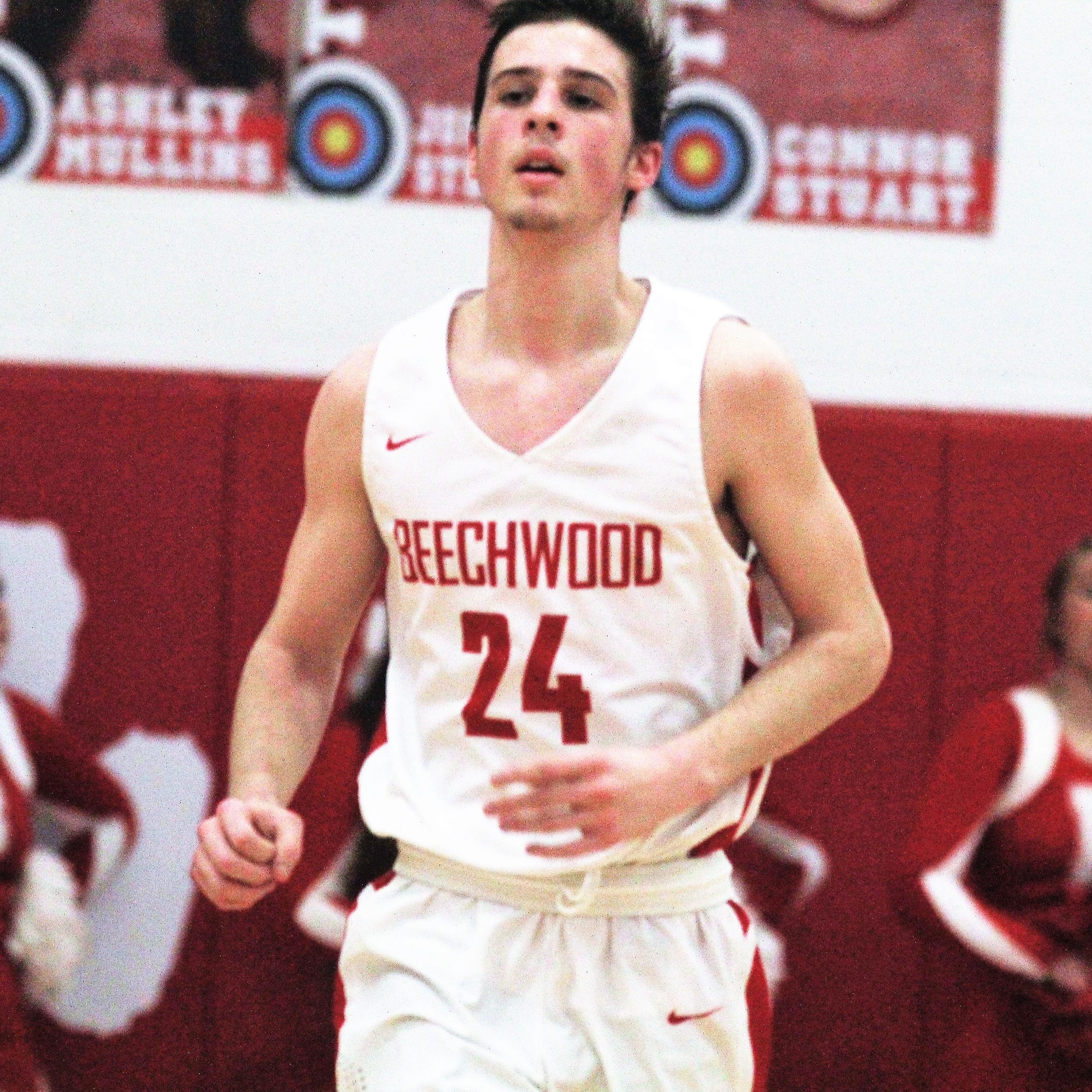 """Beechwood sophomore Scotty Draud as Newport defeated Beechwood 53-52 in the first round of the All """"A"""" 9th Region boys basketball tournament Jan. 14, 2019 at Beechwood HS, Fort Mitchell KY."""