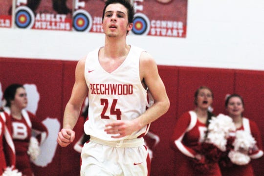 "Beechwood sophomore Scotty Draud as Newport defeated Beechwood 53-52 in the first round of the All ""A"" 9th Region boys basketball tournament Jan. 14, 2019 at Beechwood HS, Fort Mitchell KY."