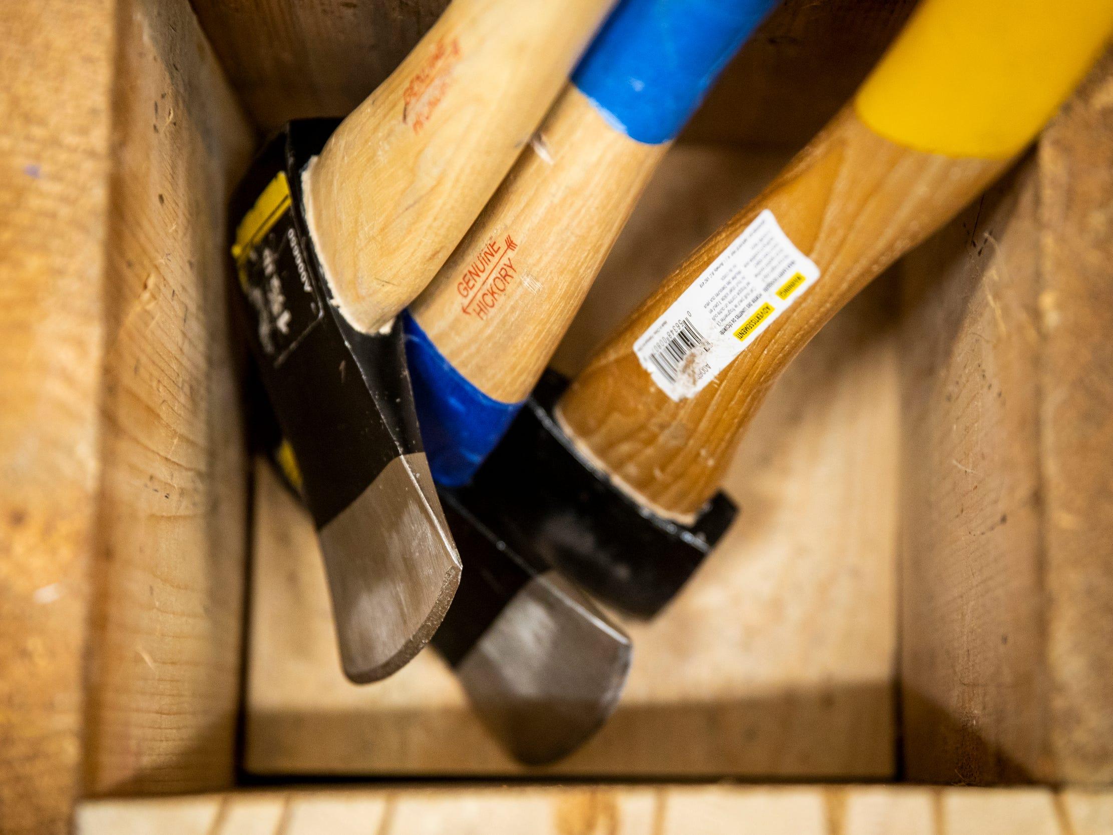 The axes at Urban Axes Cincinnati weigh 1.5 pounds.