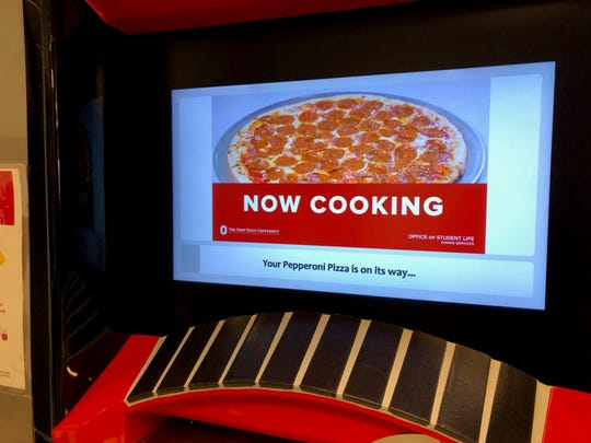 Pizza ATM at Ohio State University.