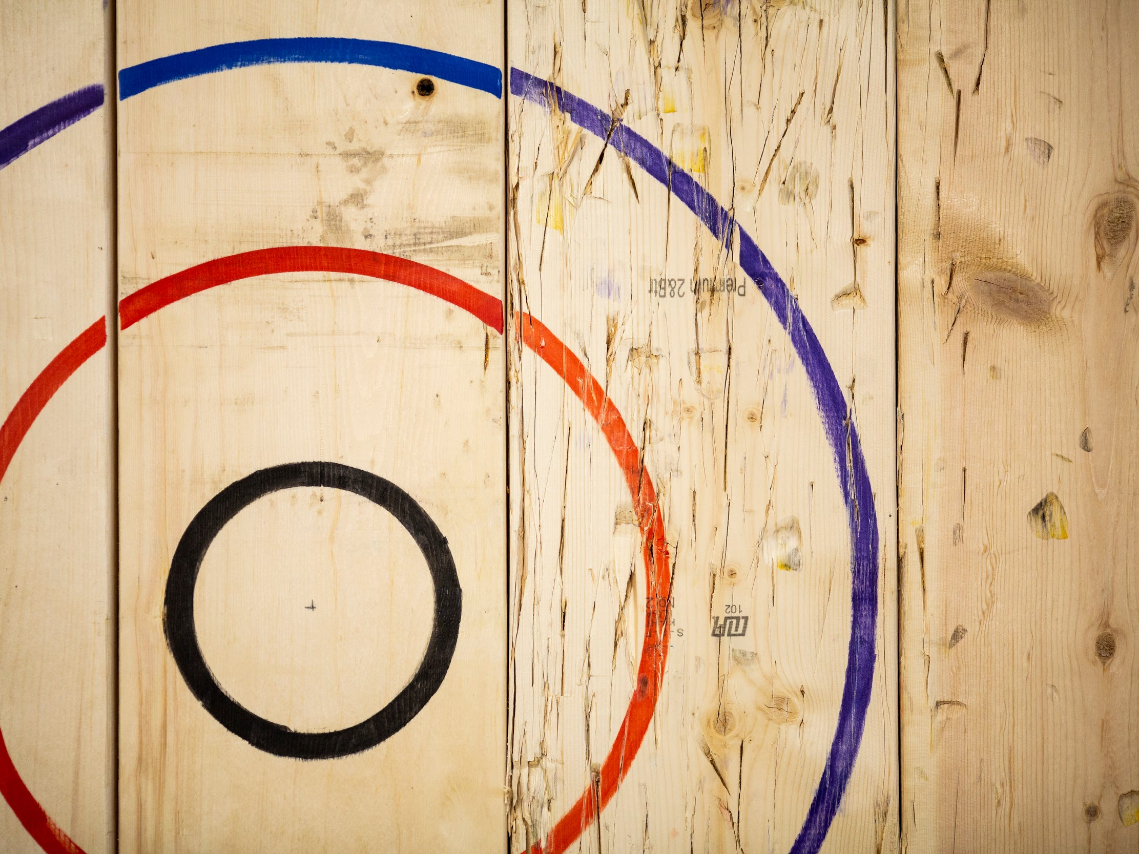 The National Axe Throwing Federation targets at Urban Axes Cincinnati are regularly replaced.