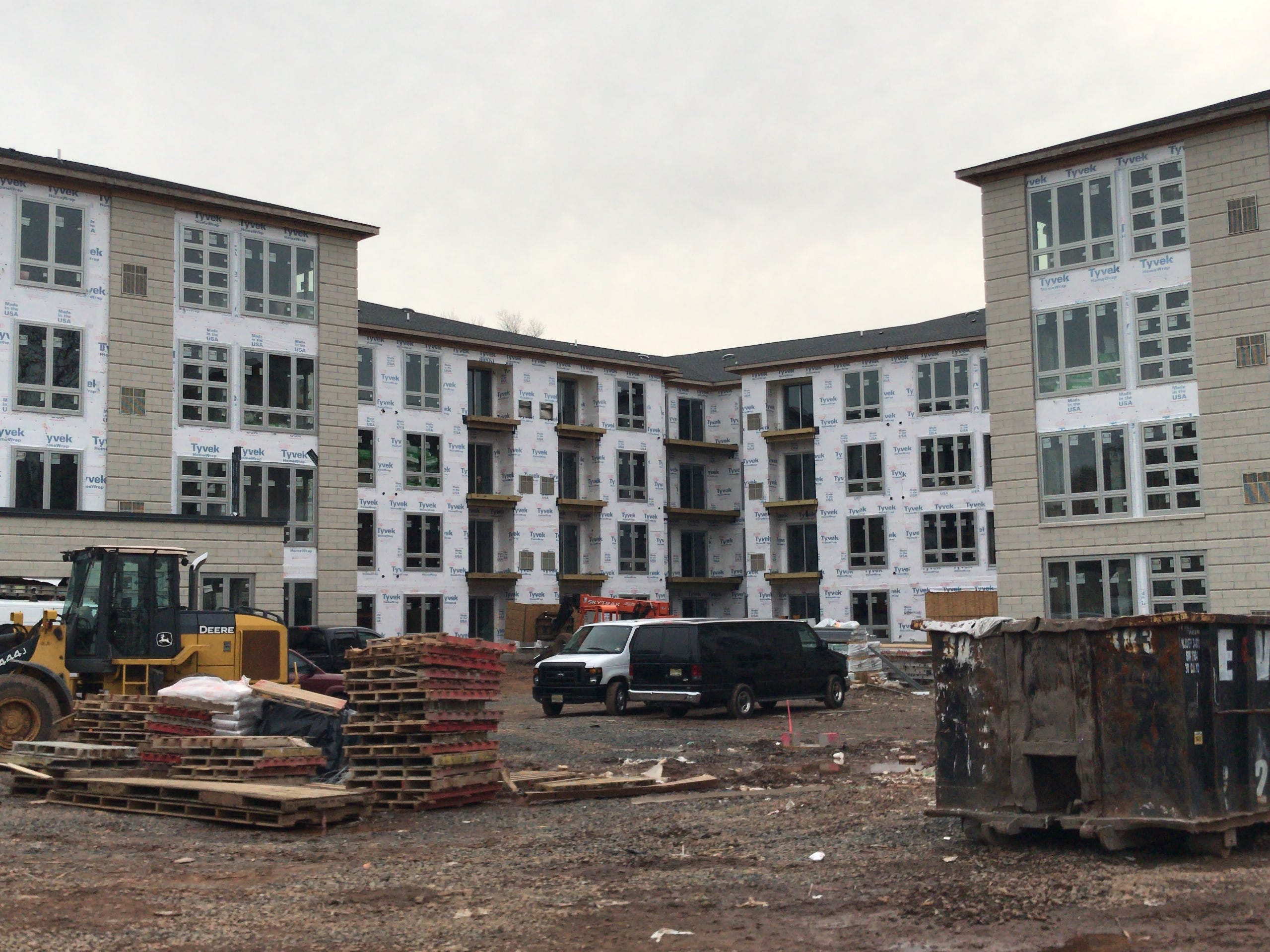 The construction site at The Quinn in Sleepy Hollow in Plainfield.