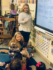 Early Childhood: Natalie Guarino, Hunterdon County Vocational School District's Educator of the Year, works with her students in Polytech's Early Childhood Education program. Guarino teaches students in Hunterdon County Polytech's Early Childhood Education and Teacher Academy programs.