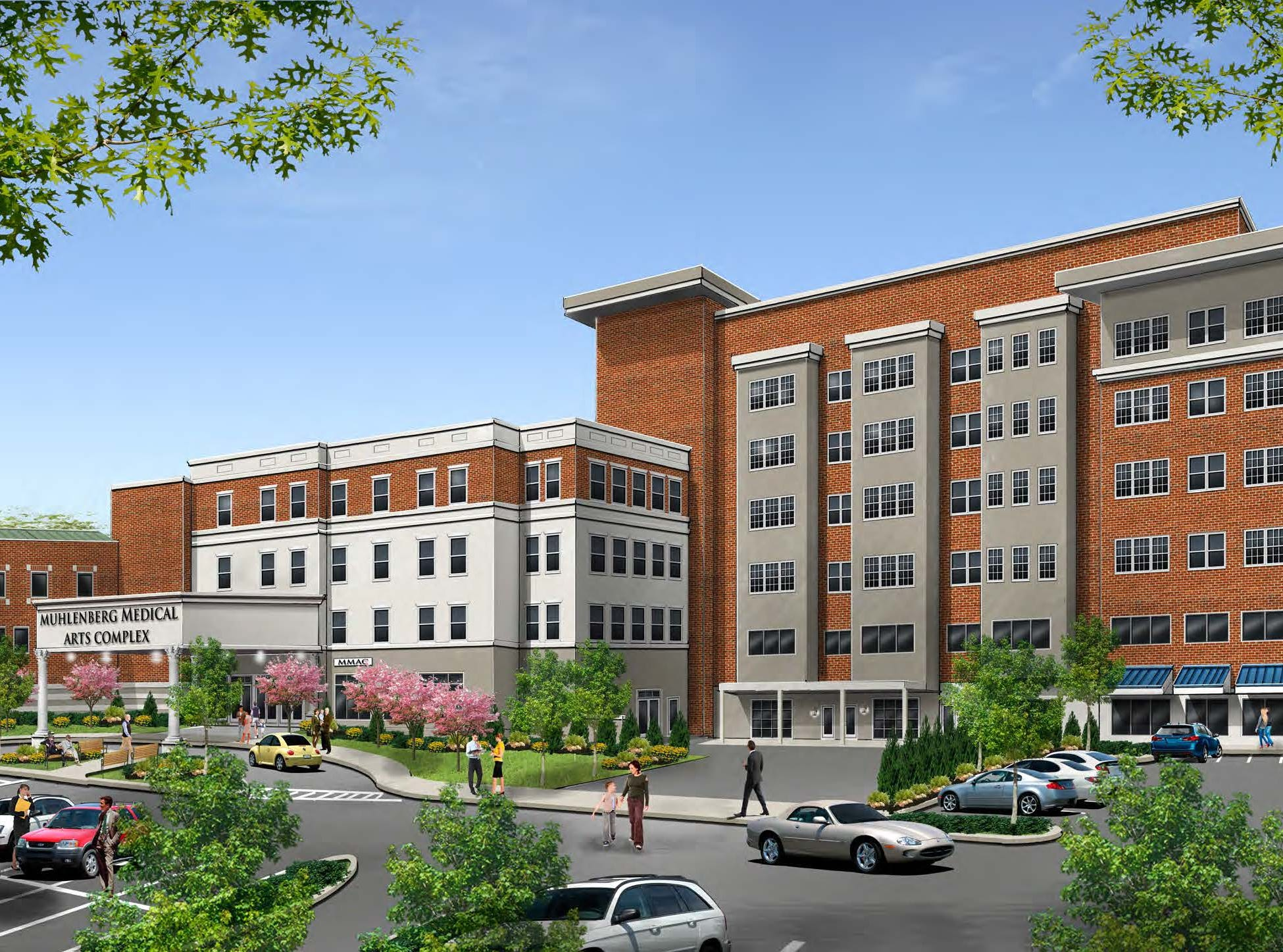 Rendering of Muhlenberg Medical Arts Complex in Plainfield