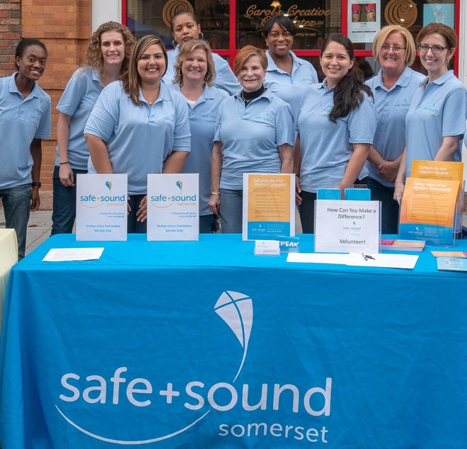 Safe+Sound staff at outreach event in Somerville.