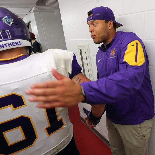 Former Panther player and assistant Ryan Mahaffey is back as Northern Iowa's new offensive coordinator.