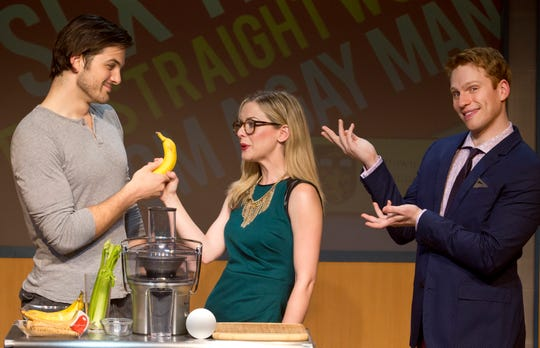 """The hit comedy""""Sex Tips for Straight Women from aGay Man,"""" returns to the Temple Theater from Jan. 22 to Feb. 10."""