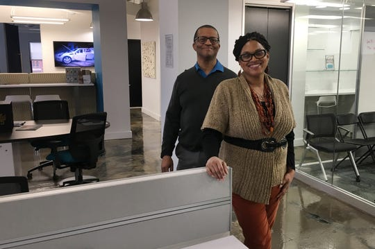 Husband and wife Bobby Burton and Karen Burton founded Spacelab coworking space in Detroit, seen here on January 9, 2019.
