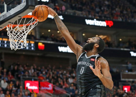 Pistons' Andre Drummond vows to bring effort and energy ...  |Andre Drummond Pistons Dunk